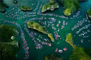 Halong Lan Ha Bay Vietnam top view