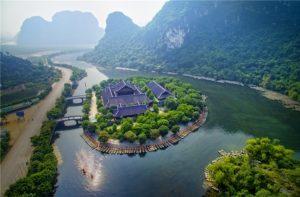 trang an ninh binh vietnam top view