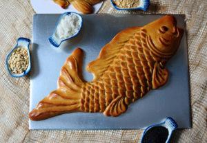 Carp fish moon cake