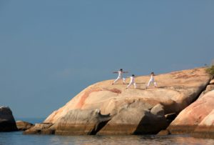 Six sense ninh van bay yoga on the rock